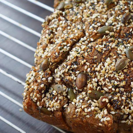 Naminė grikių duona su natūraliu raugu (be glitimo, mielių, cukraus, krakmolo)