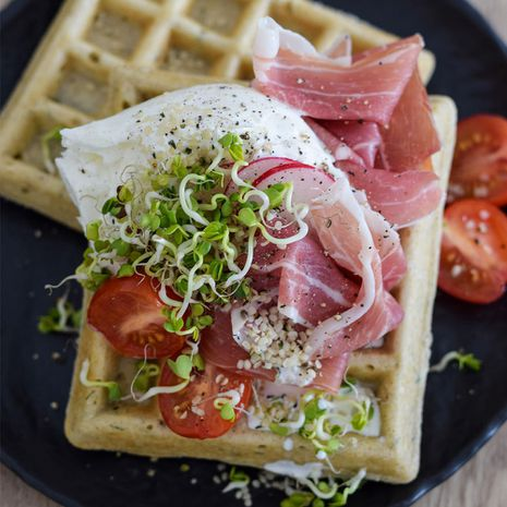 Brokastu vafeles ar piedevām