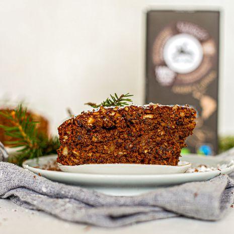 Šokoladinis lazdynų riešutų pyragas