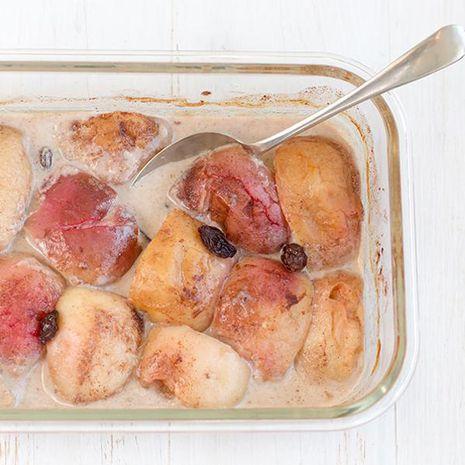 Kepti obuoliai su šviesia miso pasta