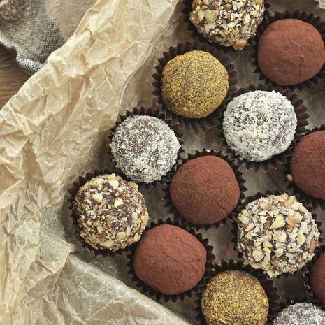 Šokoladinių triufelių asorti
