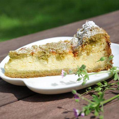Matcha-sūrio pyragas