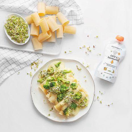 Paccheri makaroni ar tofu mērci