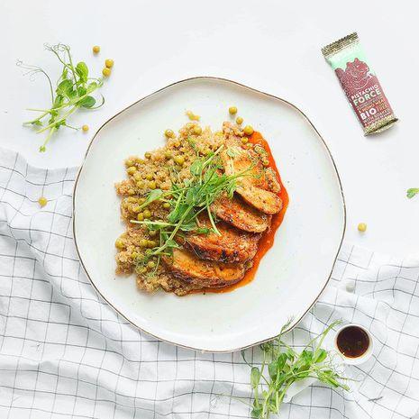 Vistu steiki ar kvinoju