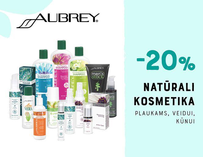 """-20% natūraliai kosmetikai """"Aubrey""""   Akcija"""