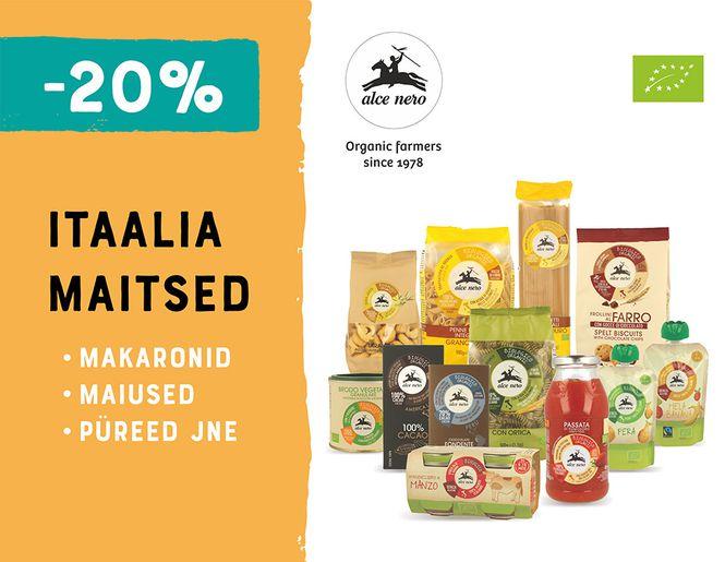 Alce Nero ökoloogilised Itaalia tooted -20% | Pakkumine