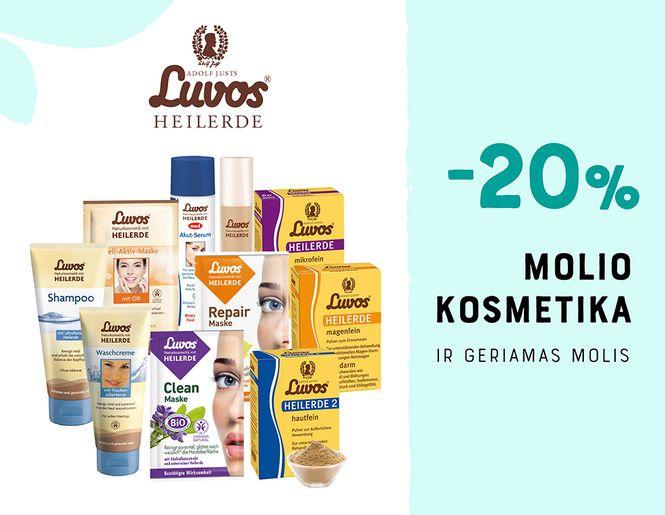"""-20% """"Luvos"""" geriamam moliui ir molio kosmetikai   Akcija"""