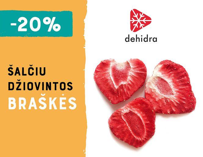 """-20% šalčiu džiovintoms braškėms """"Dehidra"""" l Akcija"""