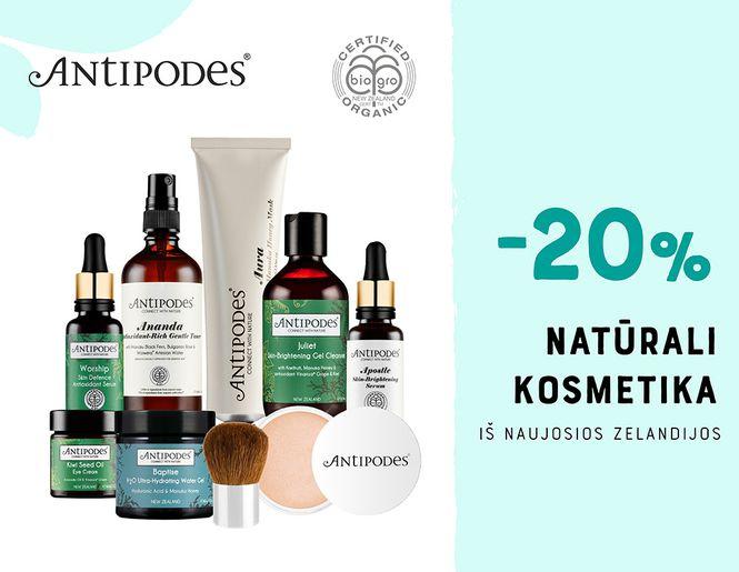 """-20% natūraliai kosmetikai """"Antipodes""""   Akcija"""