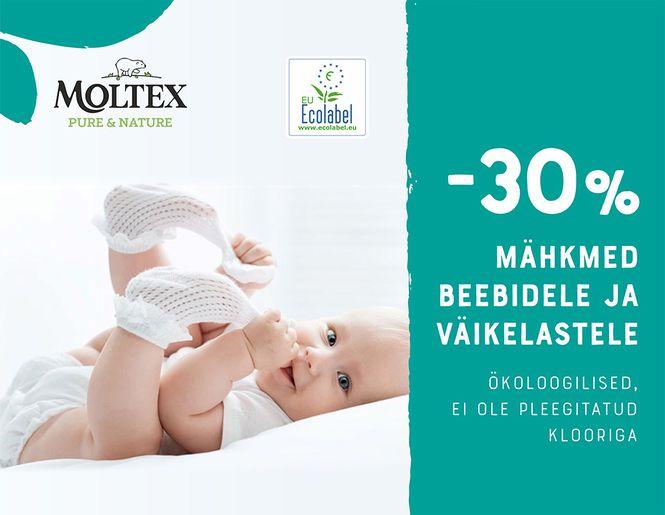 -30% Moltex ökoloogilistele mähkmetele | Kampaania