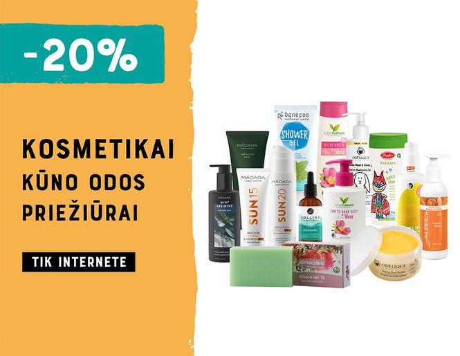 -20% visai kosmetikai kūno odos priežiūrai l Akcija