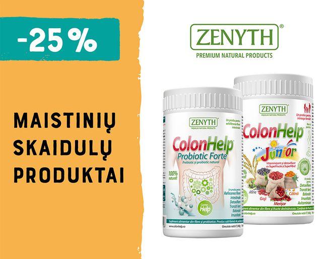 -25% maistinių skaidulų produktams COLON HELP   Akcija