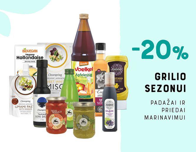 -20% padažams ir priedams marinavimui | GRILIO SEZONUI