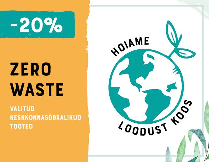 -20% keskkonnasõbralikele Zero waste toodete | Sooduspakkumine