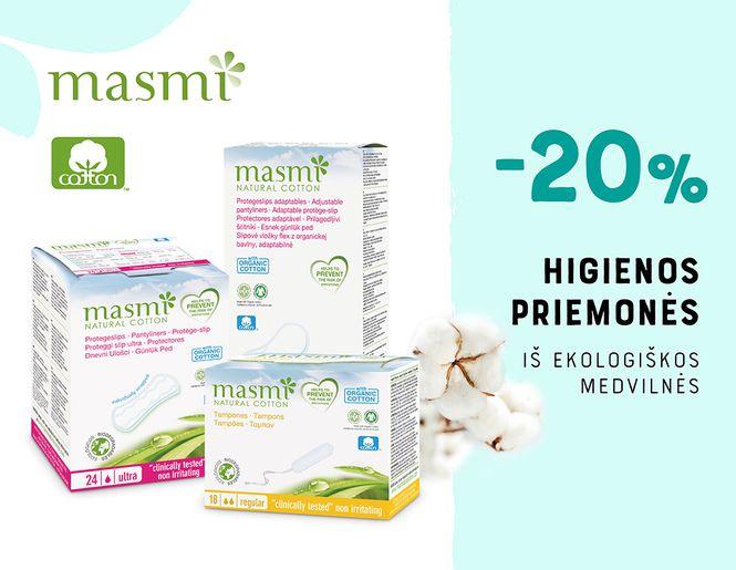 "-20% visoms higienos priemonėms ""Masmi"" | Akcija"