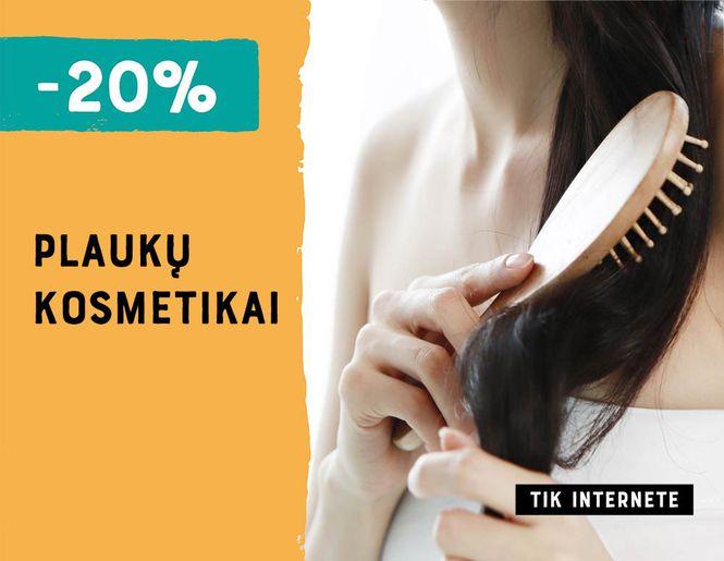 -20% nuolaida plaukų kosmetikai l Akcija