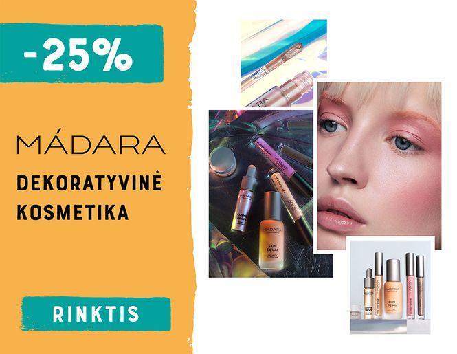 -25% MÁDARA dekoratyvinei kosmetikai l Akcija