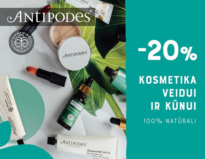 """-20% natūraliai kosmetikai """"Antipodes""""   Tik internete"""