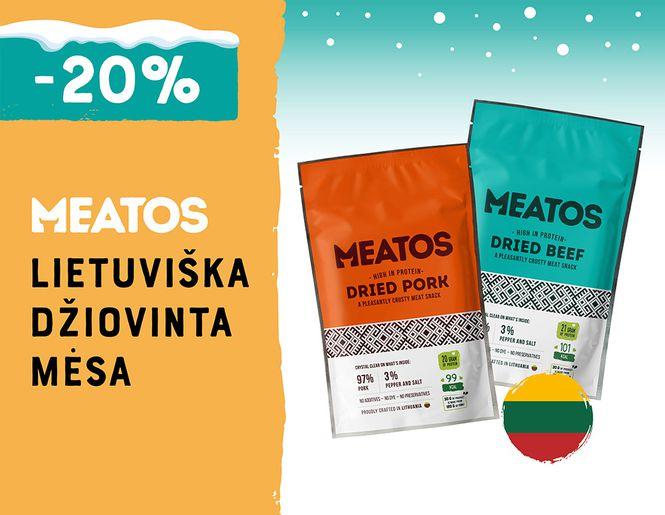 -20% džiovintai jautienai ir kiaulienai MEATOS | Akcija