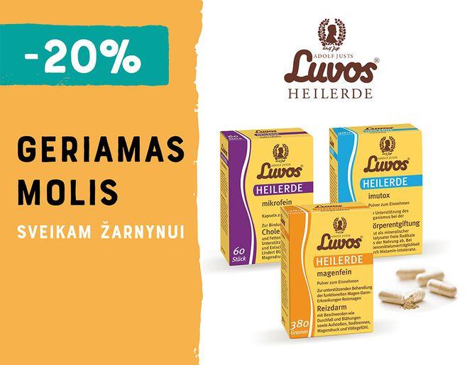 """-20% """"Luvos®"""" geriamam moliui l Akcija"""