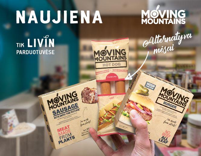"""Naujiena Lietuvoje – """"Moving Mountains"""" alternatyva mėsai. Paragaukite ateities!"""