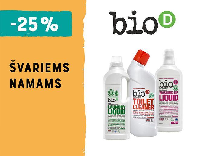 "-25% švaros prekėms ""bio-D"" l Akcija"