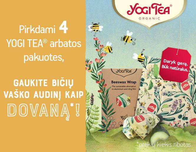 """Tvari DOVANA perkantiems 4 """"Yogi Tea"""" ekologiškas arbatas l Akcija"""