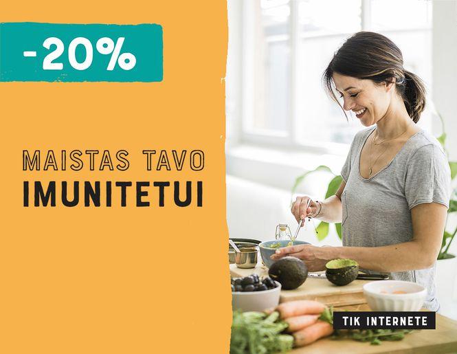 Maistas tavo imunitetui – tik internete -20% l Akcija