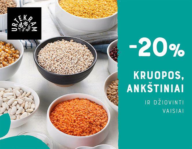 "-20% ekologiškiems maisto produktams ""URTEKRAM"" | Tik internete"