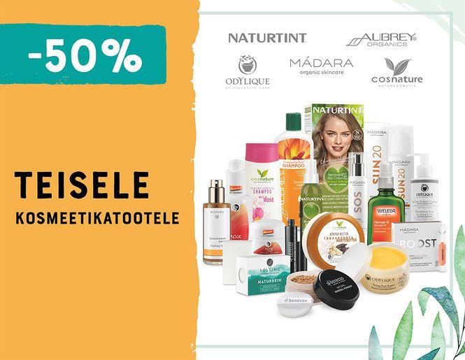 -50% teisele kosmeetikatootele - näole, kehale ja juustele | Pakkumine